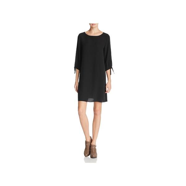 6920867c2957a0 Shop Eileen Fisher Womens Cocktail Dress Silk Tie Sleeve - Free ...