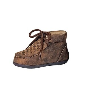Double Barrel Shoes Boys Carson Lace Up TPR Checkerboard