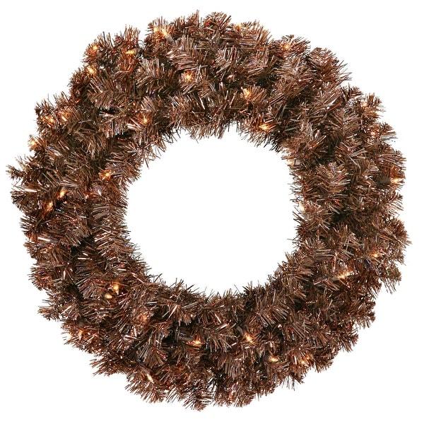 """24"""" Mocha Wreath 50CL Lts 180T"""