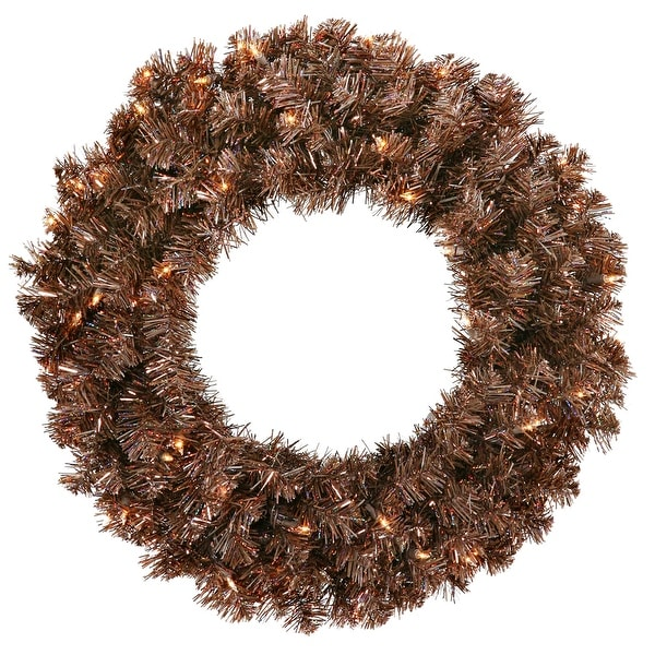"30"" Mocha Wreath 70CL Lts 260T"