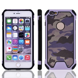 TPU Camouflage Shockproof Phone Protector Case Cover Light Purple for IPhone 7
