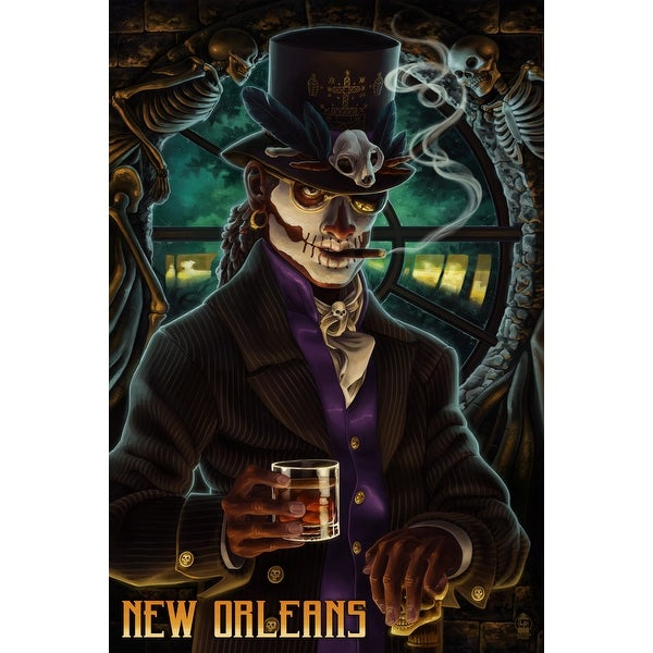 New Orleans, LA - Baron Samedi Voodoo - LP Artwork (Art Print - Multiple Sizes)