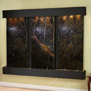 Adagio Deep Creek Falls Fountain with Blackened Copper Finish and Squared Edges - Multiple Colors Available