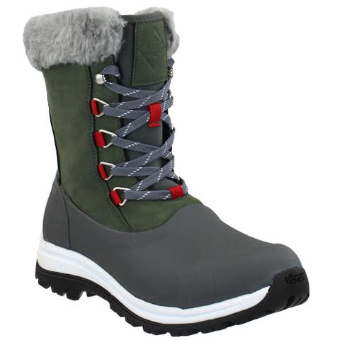 Muck Boot Apres Lace Arctic Grip Womens Boots Mid Calf Low Heel