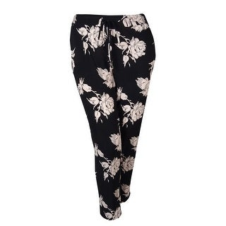 INC International Concepts Women's Floral-print Soft Pants - rose marker