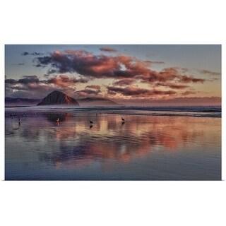 Poster Print entitled Sunset at Morro Strand - multi-color