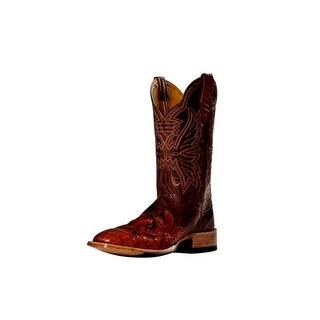 Cinch Western Boots Mens Cowboy Mad Dog Square Toe Cognac CFM150