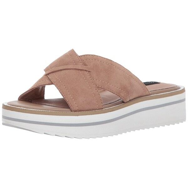 STEVEN by Steve Madden Womens Katie Leather Open Toe Casual Platform Sandals
