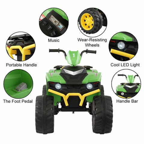 Electric 12 Volt Powered Kid Ride On ATV 4Wheel Cross-Country Toy