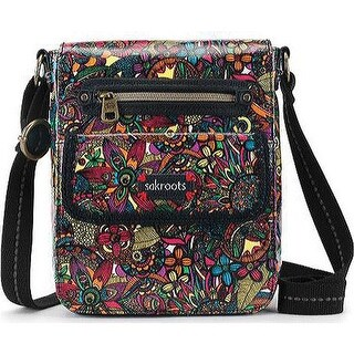 Sakroots Women's Artist Circle Small Flap Messenger Bag Rainbow Spirit Desert - US Women's One Size (Size None)