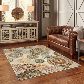 Link to Copper Grove Virovitica Distressed Floral Medallion Area Rug - Similar Items in Farmhouse Rugs