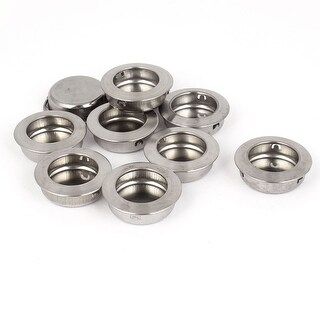 Sliding Door Drawer Stainless Steel 35mm Round Recessed Flush Pull Handle 10pcs