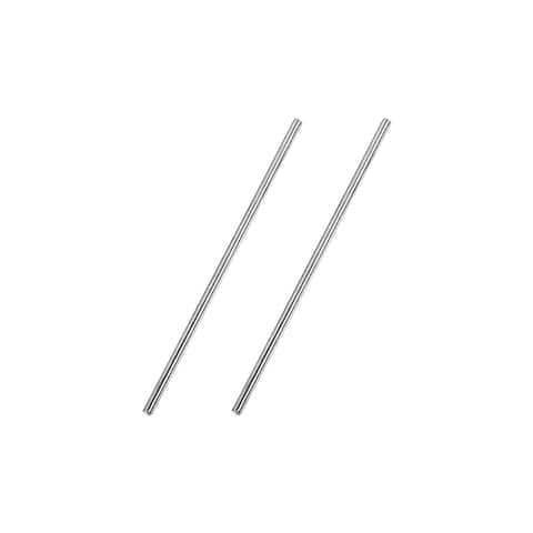 3mm x 100mm 304 Stainless Steel Solid Round Rod for DIY Craft - 2pcs
