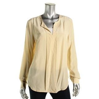 Anne Klein Womens Silk Long Sleeves Blouse
