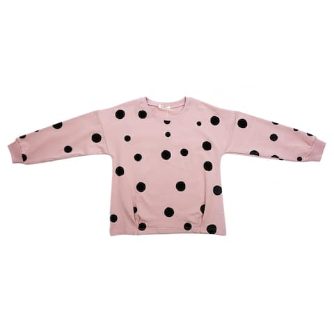 Ti1715 Girl's Cotton Clothing Pullover Sweatshirt Warm and Soft Pink