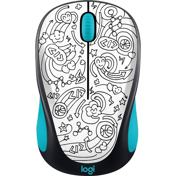Logitech 910-005031 M325c Wireless Optical Mouse Ambidextrous Brainstorm  Teal