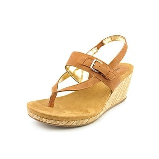 Style & Co Amber Women Open Toe Synthetic Brown Wedge Sandal