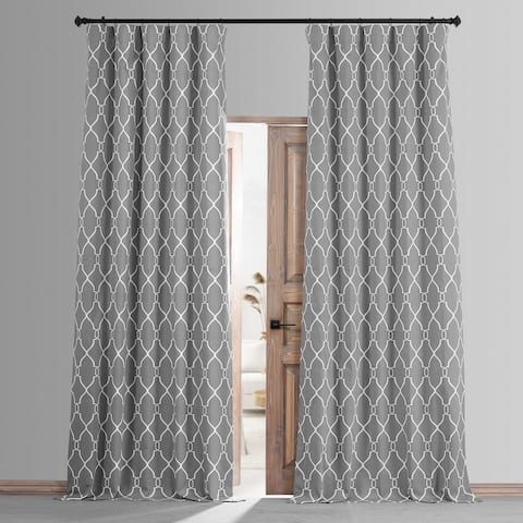 Exclusive Fabrics Aiden Printed Cotton Hotel Blackout Curtain