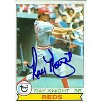 Ray Knight Autographed Baseball Card Cincinnati Reds 1979 Topps No
