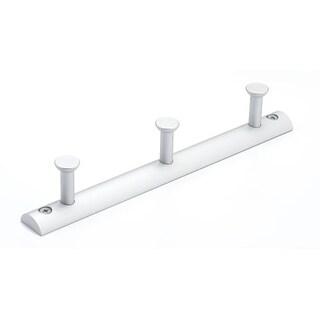 Richelieu BP700210 8-1/2 Inch Wide 3 Hook Aluminum Coat Rack
