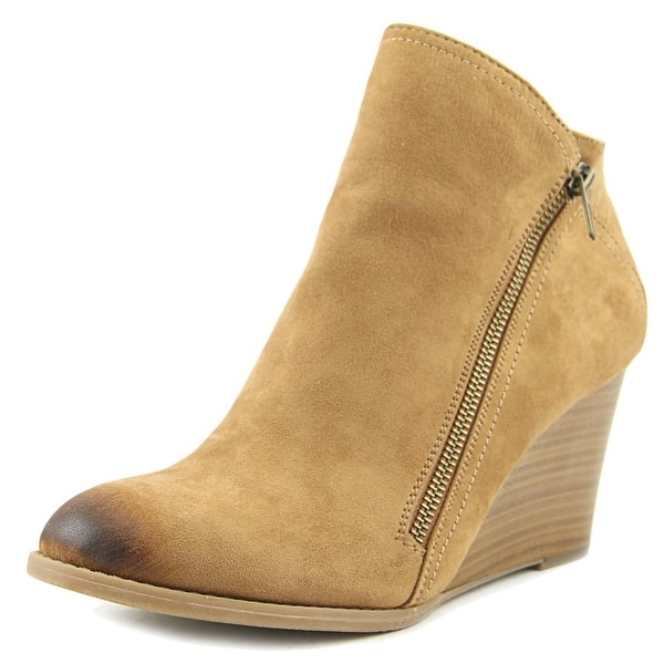 Hokus Pokus Up Hill Women Round Toe Canvas Tan Ankle Boot