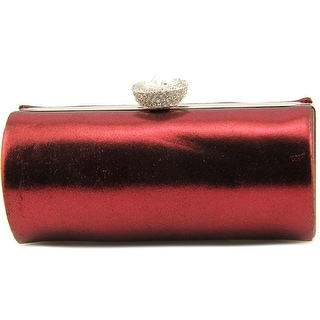Lulu Townsend Tony Clutch Women Satin Clutch - Red