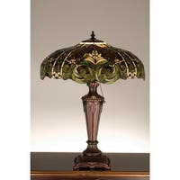 Meyda Tiffany 30386 Stained Glass / Tiffany Table Lamp from the Byzantine & Tahitian Collection - tiffany glass