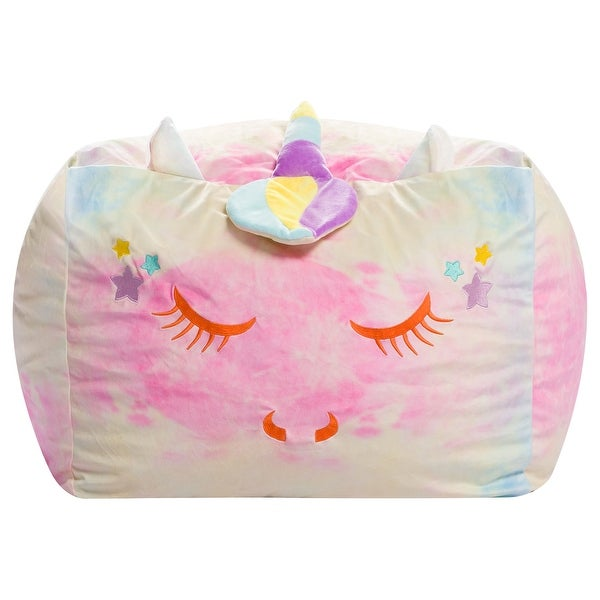 Animal Bean Bag Chair for Kids, Soft Cozy Animal Chair for Bedrooms. Opens flyout.