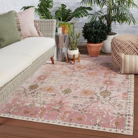 Elva Indoor/ Outdoor Oriental Area Rug
