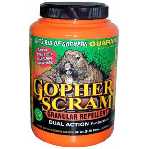 EPIC 13004 Gopher Scram Granular Repellent, 3.5 Lb