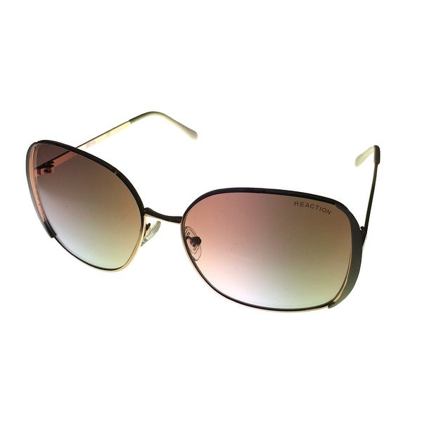 Shop Kenneth Cole Reaction Womens Square Gold Metal Sunglass ... 90d3e08824