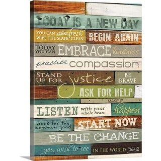 """""""Today is a New Day"""" Canvas Wall Art"""