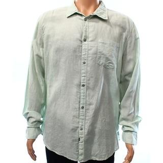 CALVIN KLEIN JEANS NEW Green Mens Size XL Pocket Button Down Shirt