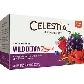 Celestial Seasonings Tea Caffeine Free Herbal Tea, Wild Berry Zinger 20 ea