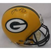 Aaron Rodgers Autographed Green Bay Packers Full Size Proline Helmet FAN