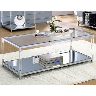 Link to Furniture of America Fald Contemporary Chrome Metal Coffee Table Similar Items in Living Room Furniture