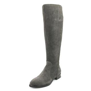 Nine West Nicolah Women  Pointed Toe Suede Gray Knee High Boot