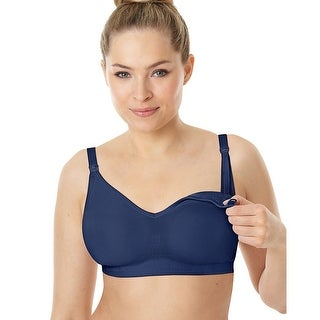 Playtex Nursing Seamless Wirefree Bra with X-Temp®; Cooling Technology - Size - XL - Color - In the Navy