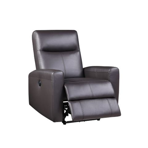 Blane Recliner Power Motion, Brown Top Grain Leather Match