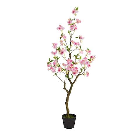 """4' Cherry Blossom Artificial Plant - 6"""""""