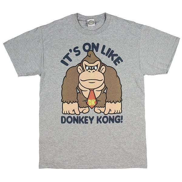 9d30f70f9 Shop Fifth Sun Men's Nintendo It's On Like Donkey Kong Fist Pump Graphic T- Shirt - On Sale - Free Shipping On Orders Over $45 - Overstock - 20735319