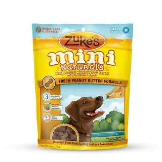 Zuke's Mini Naturals Moist Miniature Treat for Dogs Peanut Butter 6 oz.