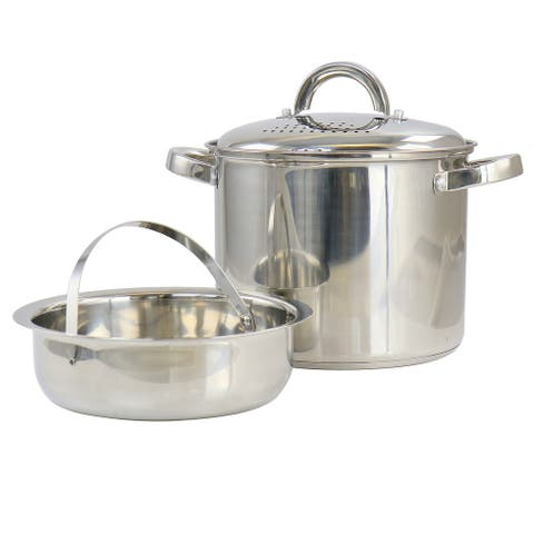 Oster Sangerfield 5Qt Pasta Pot with Strainer Lid and Steamer