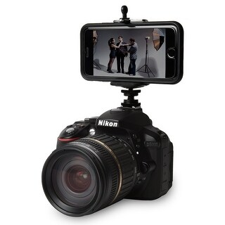 """Ivation Durable Pro 1/4"""" Hot Shoe Mount w/ Universal Smartphone Tripod Stand Mount"""