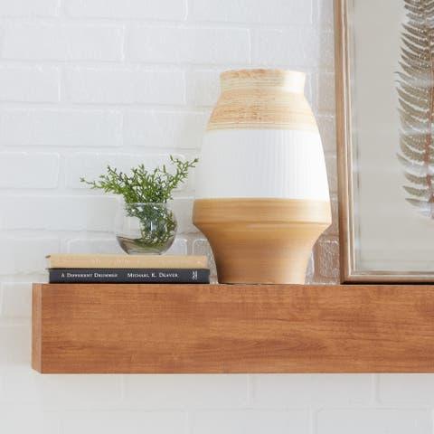 Tan Ceramic Coastal Vase 13 x 9 x 9 - 9 x 9 x 13