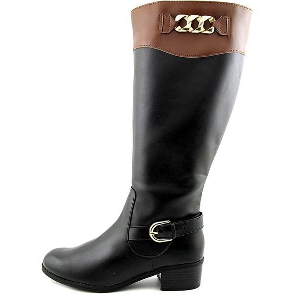 Karen Scott Darlaa Wide Calf Round Toe Synthetic Knee High Boot
