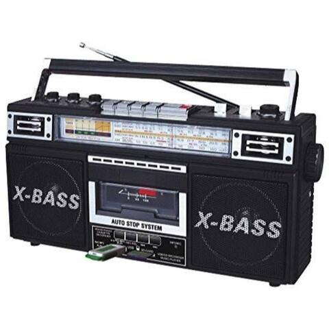 Radio Cassette MP3 Boombox Black