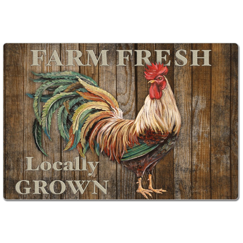 Decorative Anti Fatigue Memory Foam Mats 30 X 20 Farm Fresh Rooster Overstock 32384448