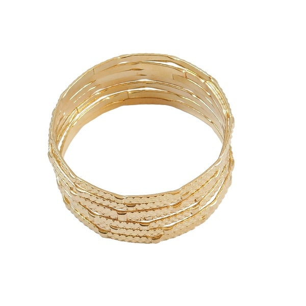 Multi Bangle Bracelet 7-Piece Set, Gold