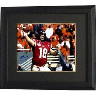 Eli Manning Signed Ole Miss Rebels 16x20 Photo Custom Framed 2003 Cotton Bowlred Jersey Steiner Hol